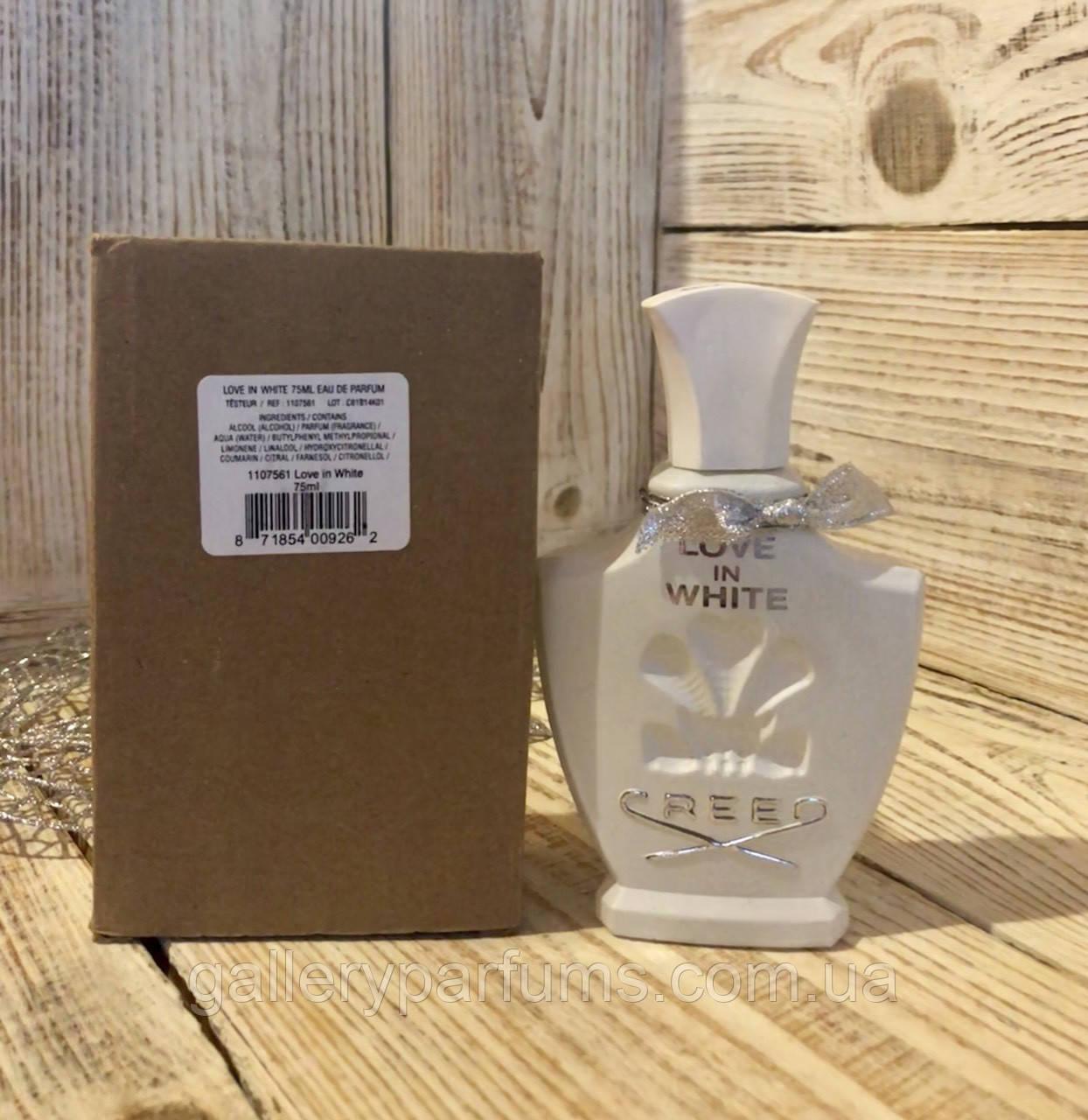 духи тестер Creed Love In White Eau De Parfum 75 Ml цена 585 грн