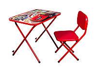 Детская парта Ommi со стульчиком Тачки Красная