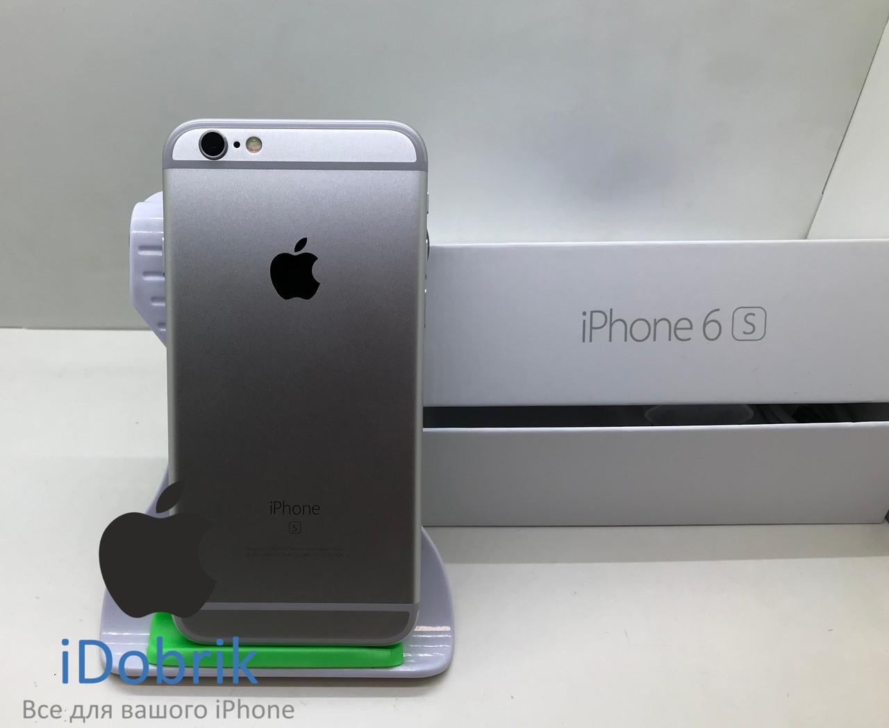 Телефон Apple iPhone 6s 128gb Silver Neverlock 9/10