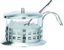 Сахарница стеклянная с ложкой V 200 мл (шт)