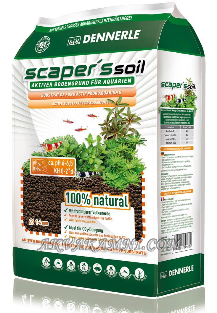 Питательный грунт  Scaper's Soil 1-4 mm, 8 литра для растительных аквариумов