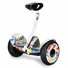 Гироборд, Сигвей (SEGWAY) белый граффити Ninebot Mini колеса 10.5 Bluetooth, система Bar Control