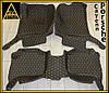 3D Коврики Lexus LX 570 Кожаные (2007-2018) Чёрные