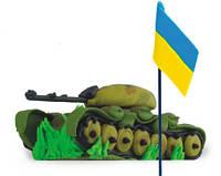 """Кондитерское украшение """"Танк с флагом"""""""