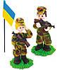 """Кондитерское украшение """"Солдаты с флагом"""""""