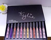 Набор помад Кайли 12 штук Kylie Black Edition