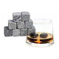 Камни для виски Whisky Stones (мыльный камень для охлаждения виски и напитков) набор № 1000316