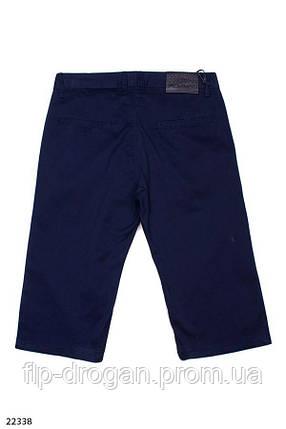 Мужские коттоновые шорты синего цвета! 32 33 34 36 38 40 42, фото 2