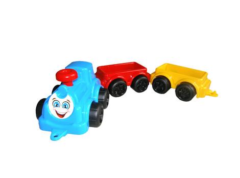 Машинка максик Паровоз с вагончиками Технок 2339, фото 1