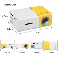Портативный LED проектор YG300 мультимедийный с динамиком