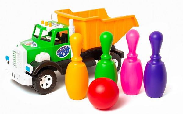 Игрушка машинка Фарго с кеглями (FargoKeg) bamsic
