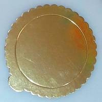 Подложка под торт Ø 200мм утолщенный 2ух сторон (зол/сер) (1уп =10шт)