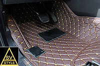 Коврики Lexus LX 570 Кожаные 3D (2007-2018) Тёмно-Коричневые