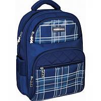 "Рюкзак школьный 16"", ""Plaid"", Royal Blue, 400 CFS"