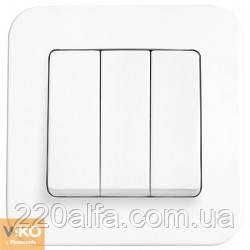 Выключатель Viko Rollina, белый, 3 кл.