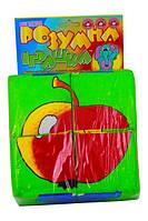 Детские кубики. Собери картинку. Фрукты 4 кубика (KubikFrukt), фото 1