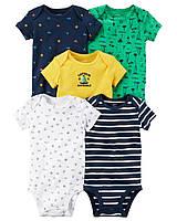 Детские боди  для мальчика (5 шт)  3,  9, 18, 24  месяца