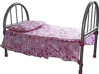 Кроватка для кукол металлическая (9342)
