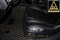 Тюнинг BMW 5 Коврики 3D (кузов F10 / 2009-2017) Чёрные, фото 1