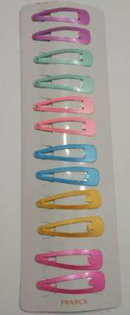 """Заколка для волосся """"тік-так"""" (клік-клак, хлопалка) 5 см кольорова, упаковка 12 шт."""