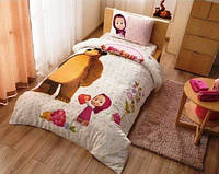 Подростковое постельное белье TAC Турция Маша и Медведь