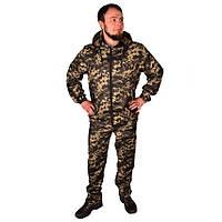 Камуфляжный костюм с капюшоном UkrCamo КПТ 56р. Пиксель тёмный