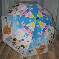 Детский зонт с котами голубой, фото 1