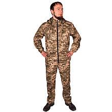 Камуфляжний костюм з капюшоном UkrCamo КПС 56р. Піксель світлий