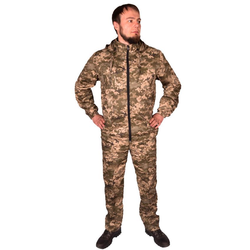 Камуфляжный костюм с капюшоном UkrCamo КПС 58р. Пиксель светлый