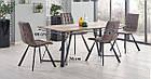 Стол обеденный деревянный CALGARY Halmar орех рустикаль/черный, фото 2