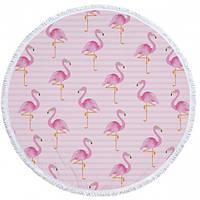 """Пляжный коврик """"Tender Flamingo"""" 155см, розовый"""