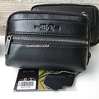 Мужская кожаная поясная сумка H.T Leather