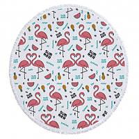 """Пляжный коврик """"Sammer Flamingo"""" 155см, розовый"""