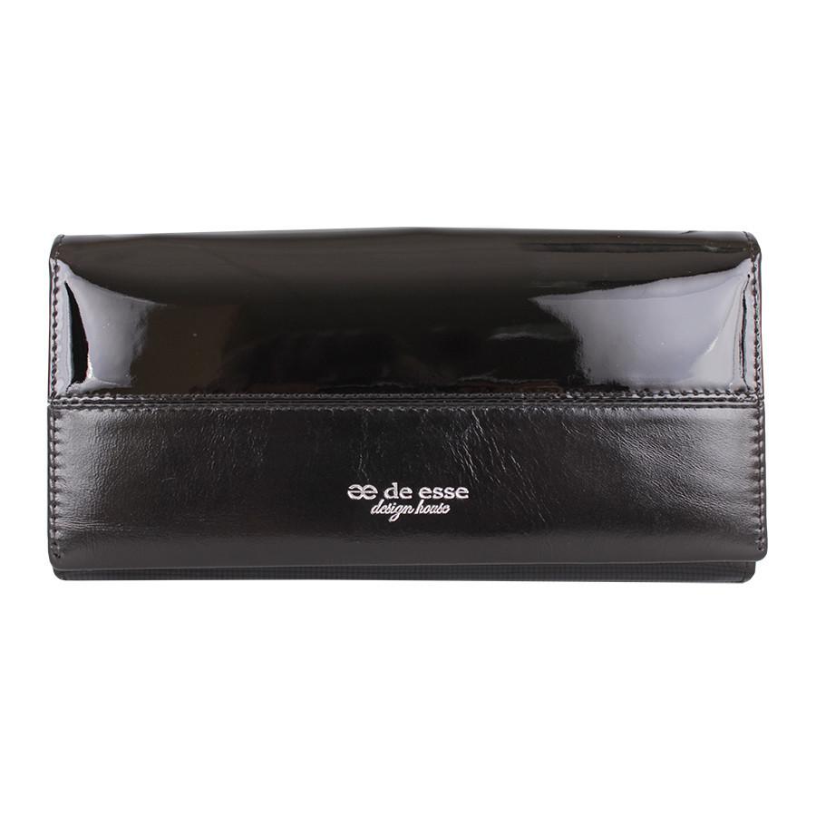 Женский кошелек черный с карманами