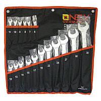 Набор ключей, Onex OX-223, набор рожковых ключей, рожково накидные ключи, набор гаечных ключей, 17 шт.
