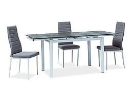Стол обеденный стеклянный TURIN Signal черный/белый