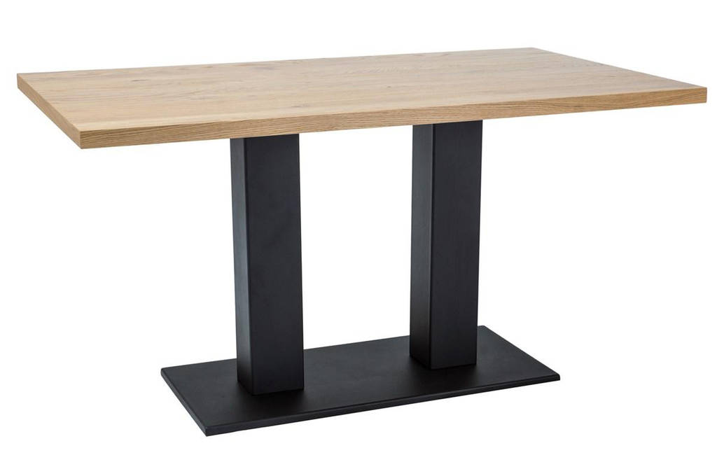 Стол обеденный деревянный SAURON 120×80 Signal дуб/черный