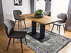 Стол обеденный деревянный SAURON 120×80 Signal дуб/черный, фото 2