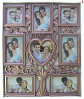 Мультирамка для фотографий Love на стену (на 8 фото)