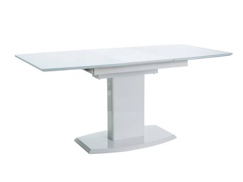 Стол обеденный стеклянный AUSTIN Signal белый