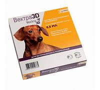 Краплі зовнішні проти паразитів для собак 1,5-4кг Вектра-3D