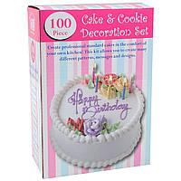 Набір для прикраси тортів 100 Piece Cake Decoration Kit, 1001644, 0