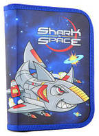 Пенал 1 Вересня твердий одинарний с двумя клапанами Shark space 531734