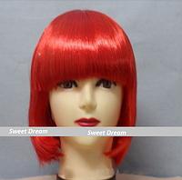 Новинка! Женский элегантный модный парик для вечеринок, стрижка каре боб, прямые волосы с челкой, цвет красный