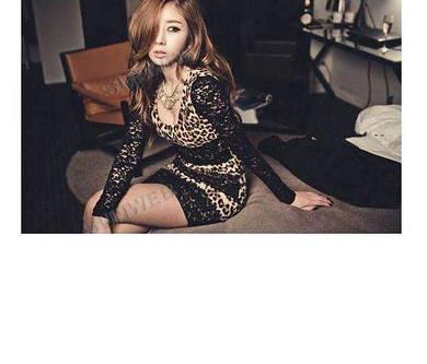 Эротическое леопардовое платье №33