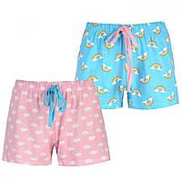 Пижамные шорты Miso Two Pack Pink/Blue Rbow - Оригинал