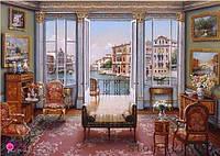 Картина для рисования камнями квартира стразами Diamond painting Алмазная вышивка алмазами мозаика iLife