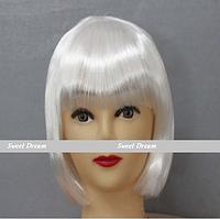 Новинка! Женский элегантный модный парик для вечеринок, стрижка каре боб, прямые волосы с челкой, цвет белый