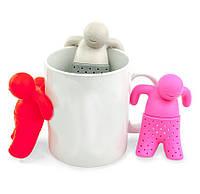 Mr tea, заварник человечек, заварник в виде человечка, заварник для чая в виде человечка, силиконовые заварник для чая, 1002079