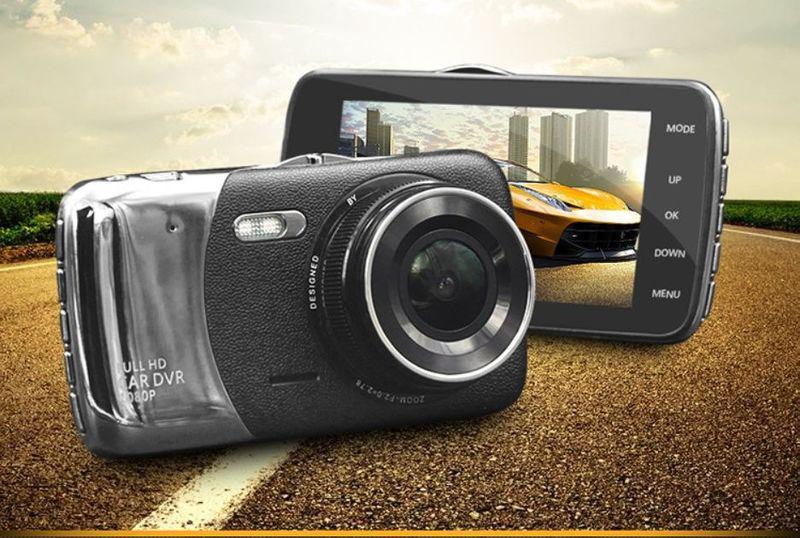 Відеореєстратор HD IR Нічна Зйомка дві камери Car Cam DV460, нічне бачення